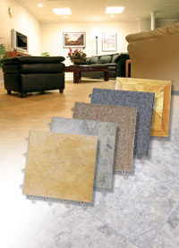 Basement Flooring in a home in Olathe, Kansas and Missouri