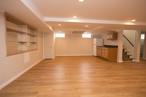 A beautiful, finished basement in Greater Kansas City